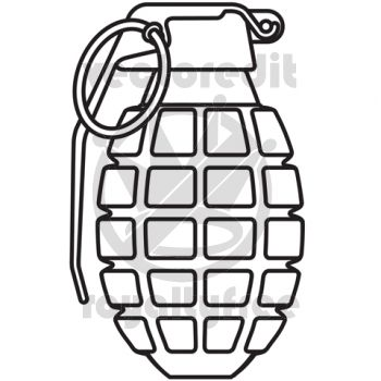 How to Draw a Grenade | Hand Grenade vector illustration ...