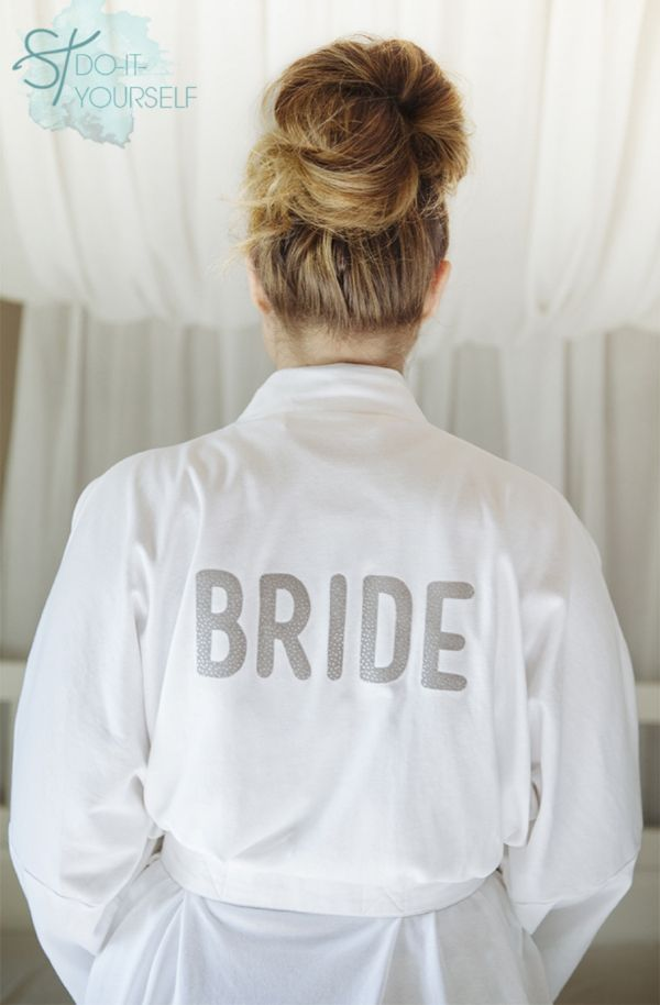 How To Make A Personalized Robe For Your Wedding Day
