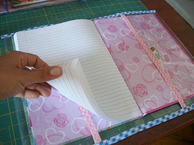 craftaholic: Capa removível para caderno - Como fazer?