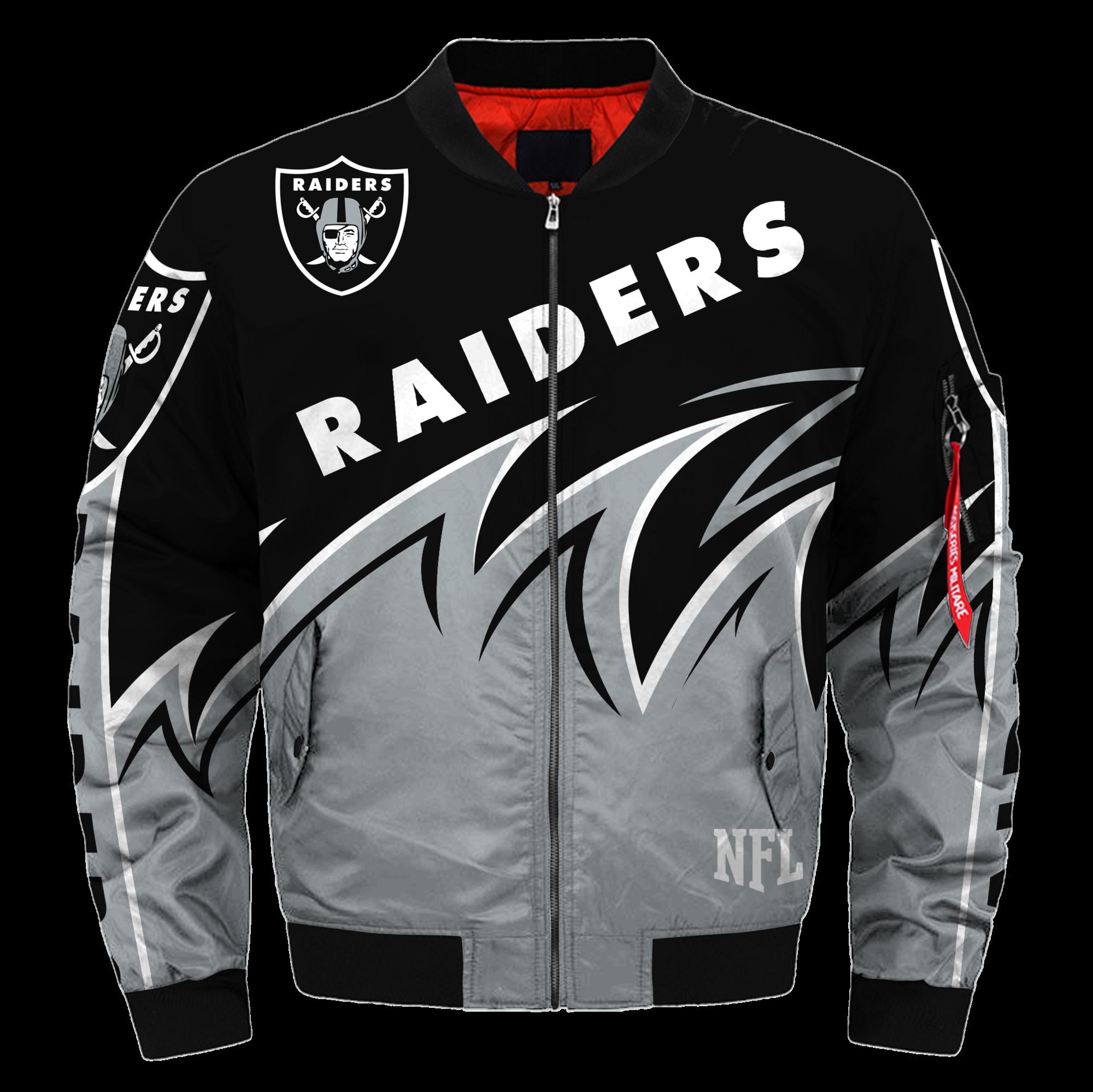 Oakland Raiders Bomber Jacket Nfl Oakland Raiders Apparel Nfl [ 1999 x 2000 Pixel ]