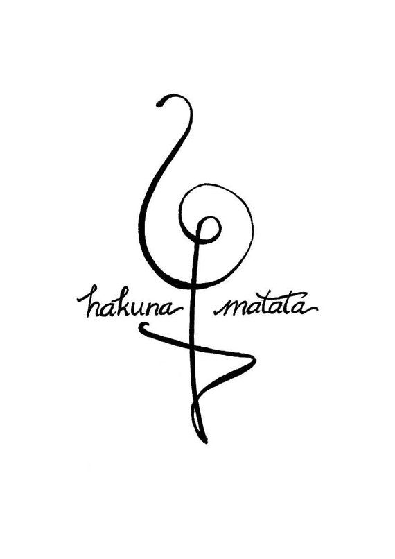 Hakuna Matata Symbol, Disney Lion King Gold Black and White Modern ...