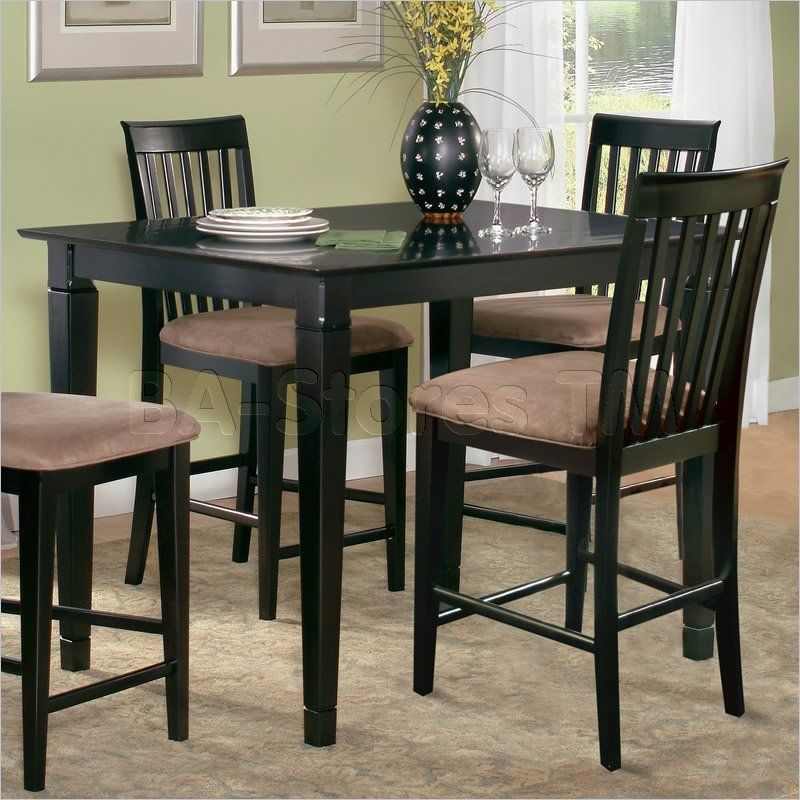 Deco Counter Height Pub Table In Espresso Finish  Atlantic Amusing Espresso Dining Room Table Sets Design Ideas