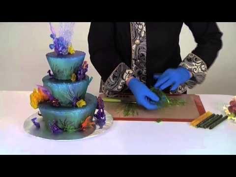 Decoraciones ba adas con isomalt de cakeplay drizzle decorations youtube caramelo - Decoracion con caramelo ...