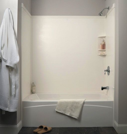 Tub Surround in White. Transolid | Bath remodel | Pinterest | Tub ...