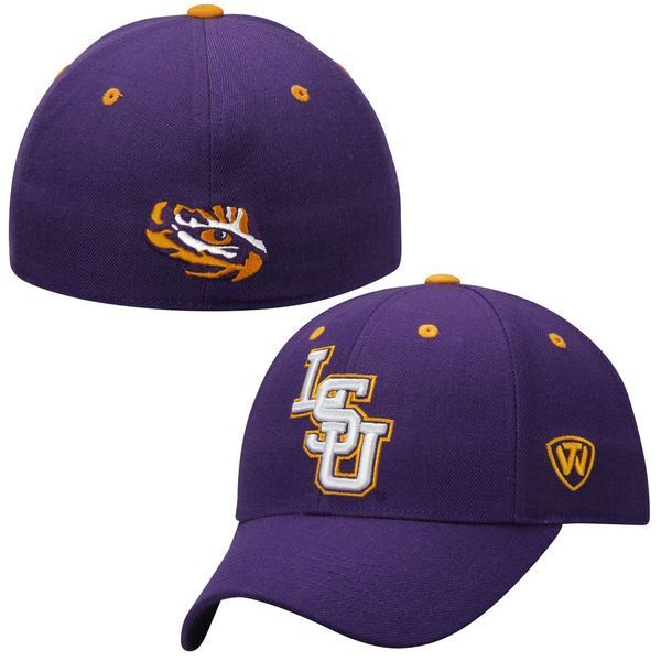 776499d802e LSU Tigers Top of the World Dynasty Memory Fit Fitted Hat - Purple -  27.99