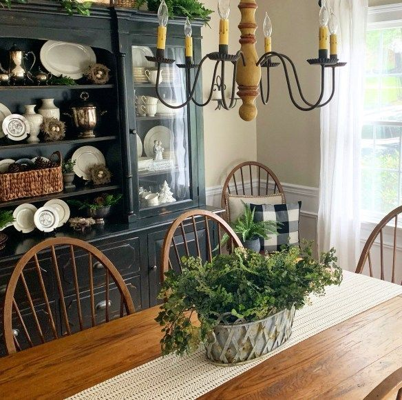 Shelf Styling, Red Dining Room