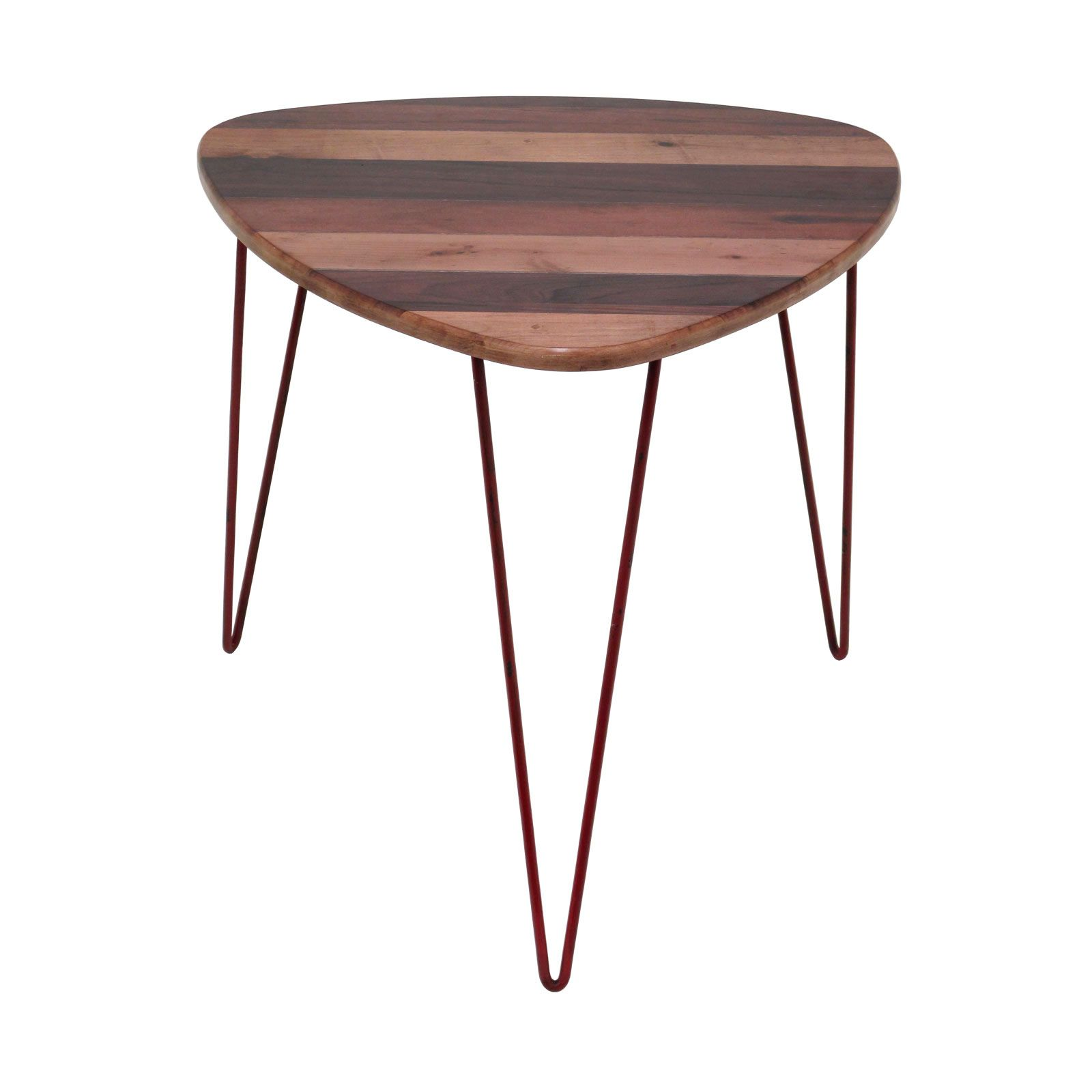 Amazing Hairpin Wedge Accent Table In Red   Unique Modern Furniture   Dot U0026 Bo