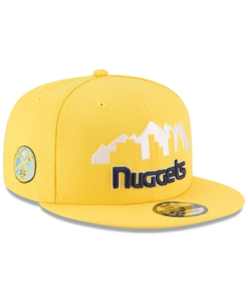 afe7e31c8 New Era Denver Nuggets Statement Jersey Hook 9FIFTY Snapback Cap - Yellow  Adjustable