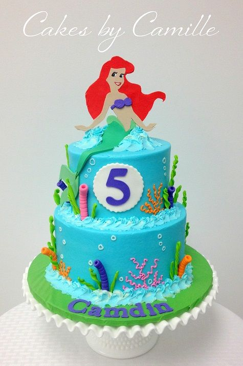 The Little Mermaid Ariel Cake Kids birthday parties Pinterest