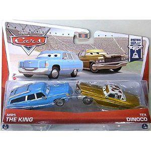 Disney/Pixar Cars Mrs. The King e Tex Dinoco