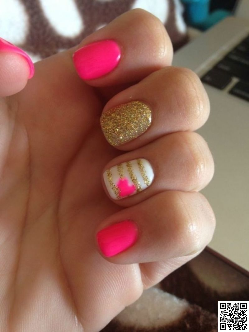 14. Pink and Gold - 24 #Fancy Nail Art Designs That You\'ll Love ...