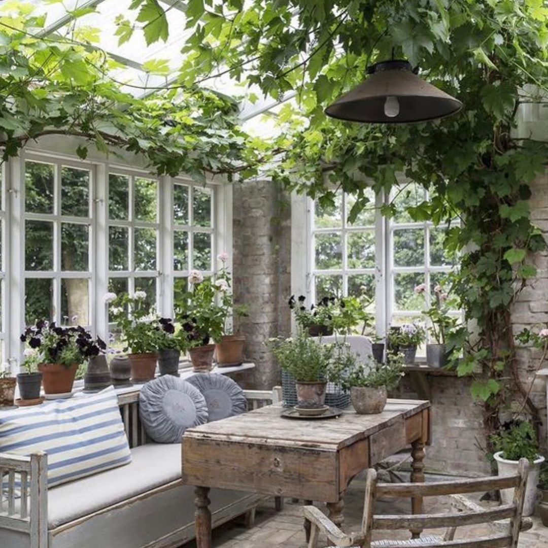 "DECARA HOME on Instagram: ""A charming garden room area. Happy"