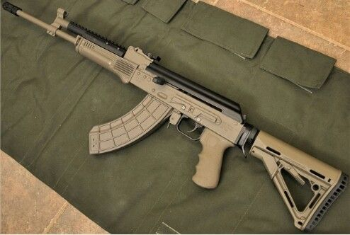Ak 47 with venom tactical front gas block sight and ultimak