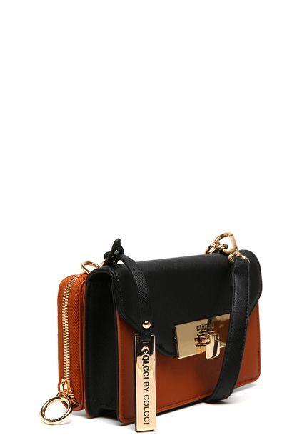 cf1235f49 Bolsa Transversal Colcci Tag Caramelo/Preta | Wishlist | Bags ...