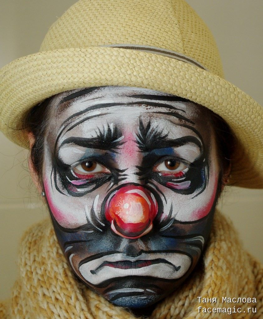 7f2f918f7 Sad clown. Face paint by Tanya Maslova. | Face Painting in 2019 ...