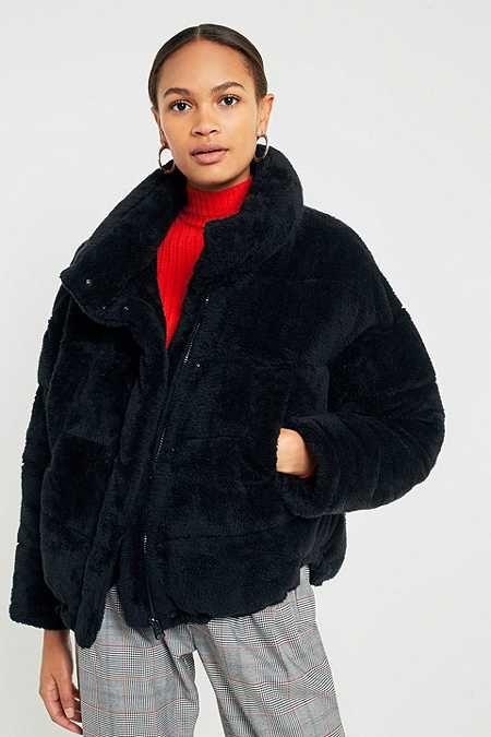5b64041c1 Light Before Dark Black Teddy Puffer Jacket   - fashion -   Puffer ...