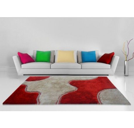 Buy Shaggy Carpet Red And Beige Design 3 Feet X 5 Feet Rs 2499 Only Visit Loomkart Com For Shaggy Carpets Online Buying Carpet Rugs On Carpet Carpet Sale
