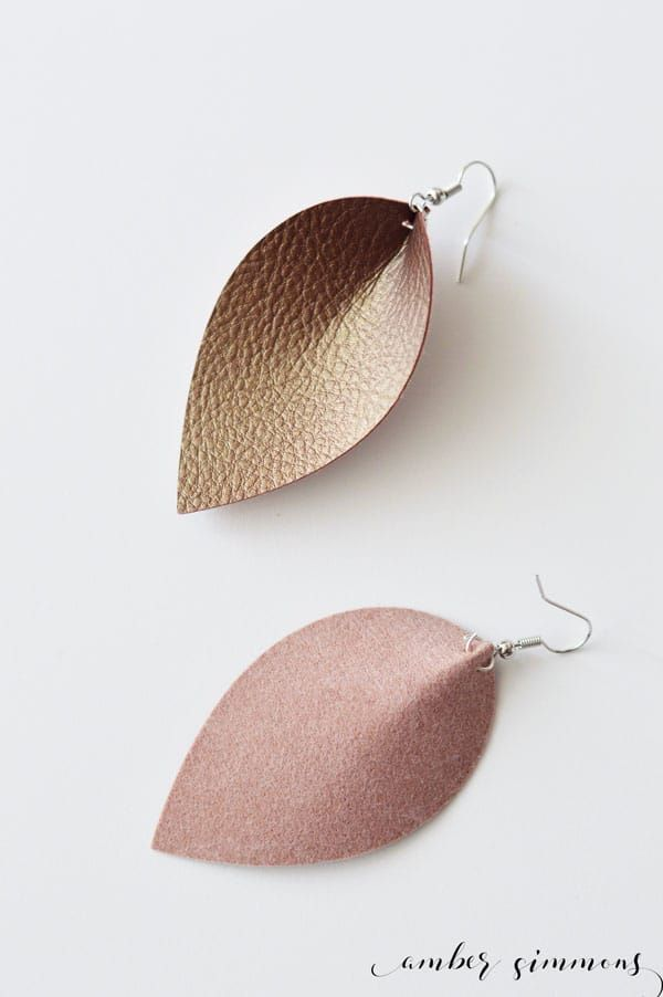 Photo of DIY Faux Leather Magnolia Inspired Teardrop Earrings – Amber Simmons