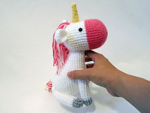 MADE to ORDER - Amigurumi Unicorn - cute crochet unicorn plush ...