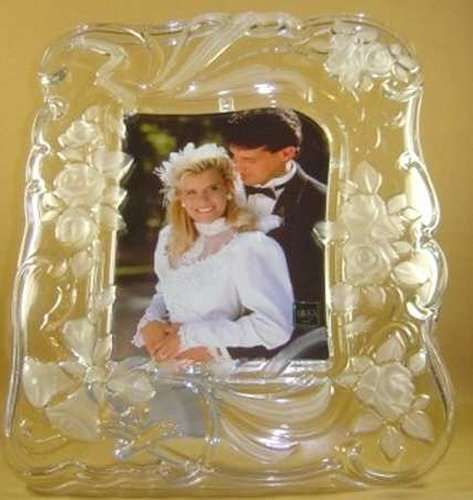 2999 mikasa crystal victorian picture frame 6 x 8 new - Mikasa Picture Frames
