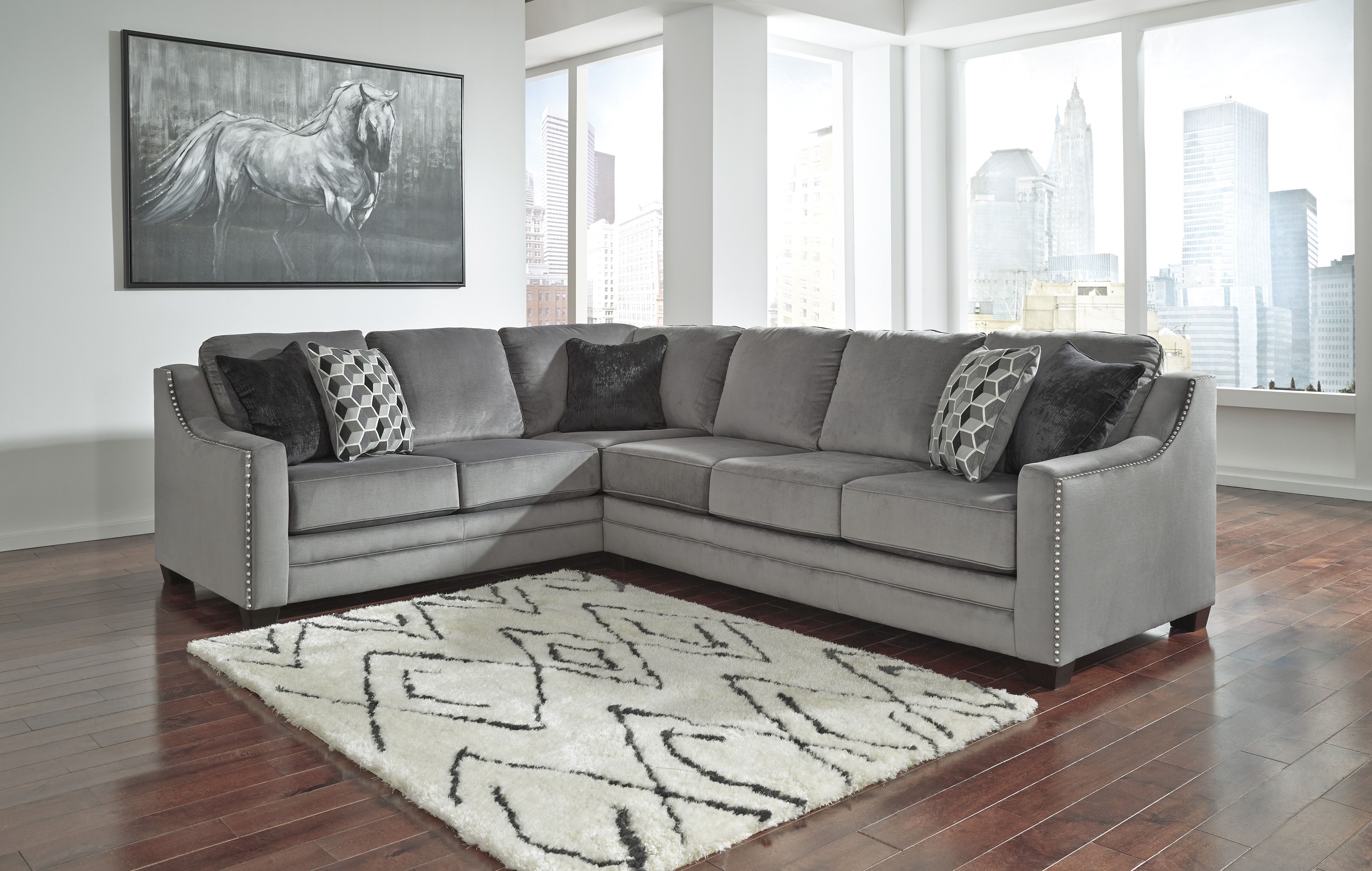 Meubles Ashley Floride Bicknell Charcoal 86204 48 Ashley Sectional Sofa House Deco