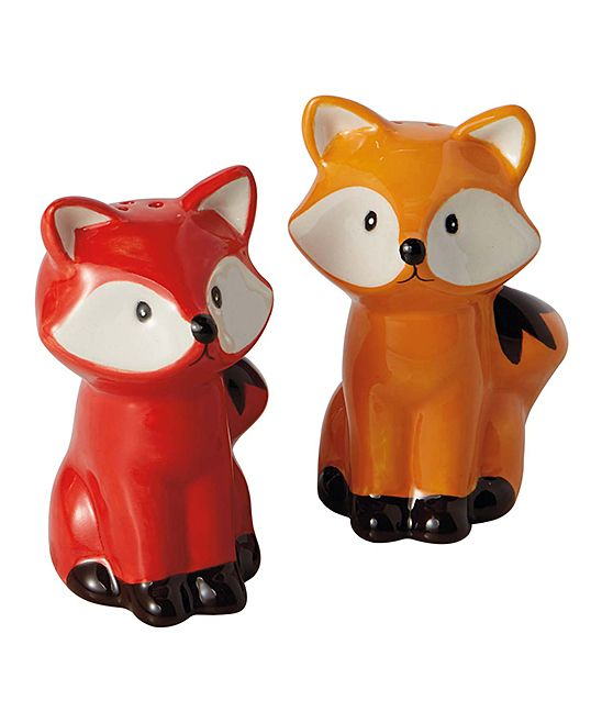 Foxes Salt & Pepper Shakers