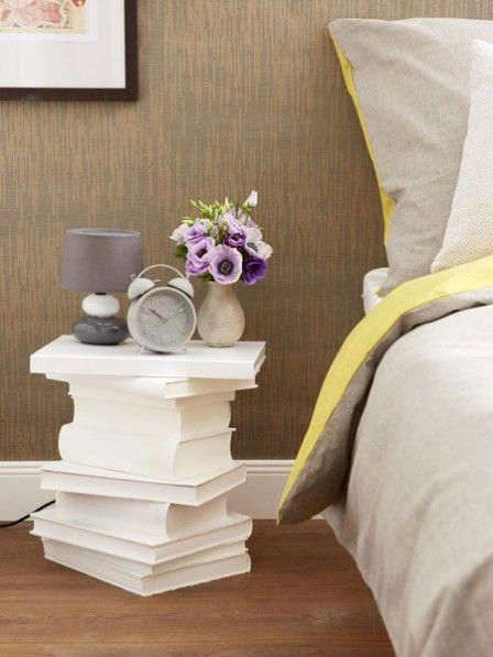 diy idee nachttisch aus alten b chern basteln basteln pinterest basteln m bel und alte. Black Bedroom Furniture Sets. Home Design Ideas