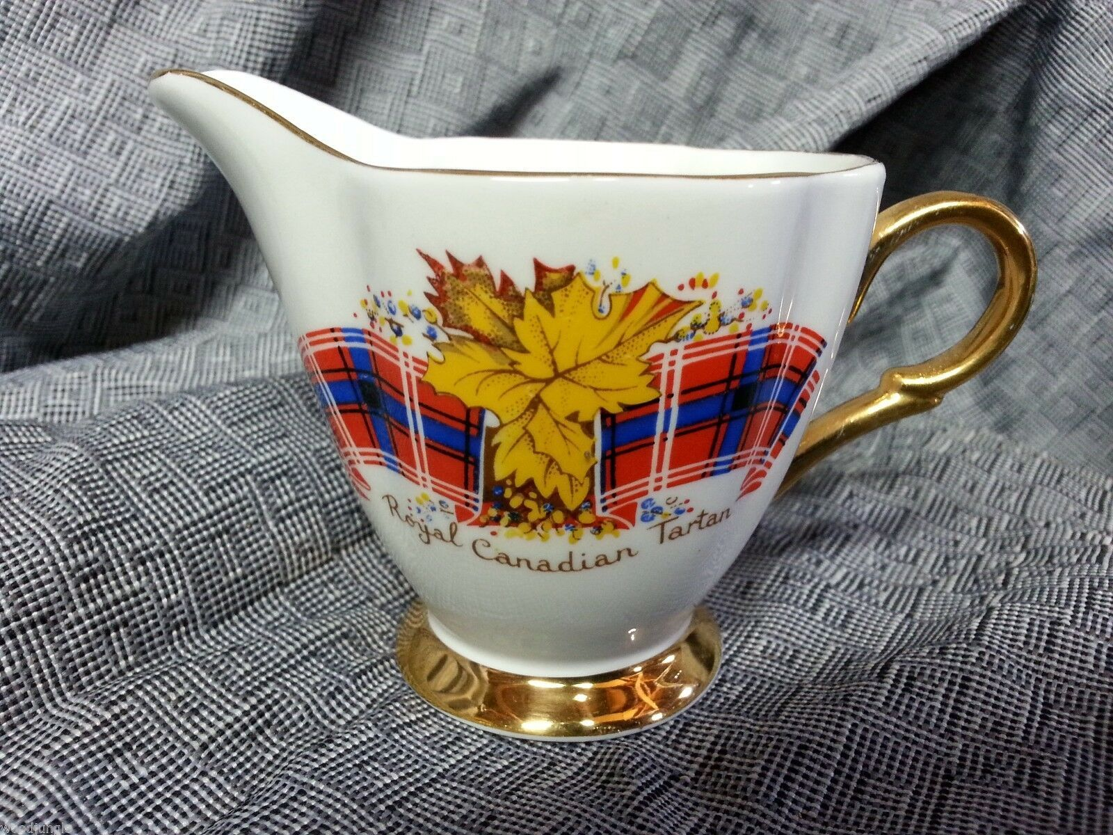 Vintage ROYAL CANADIAN TARTAN COFFEE CREAMER CANADA DISH
