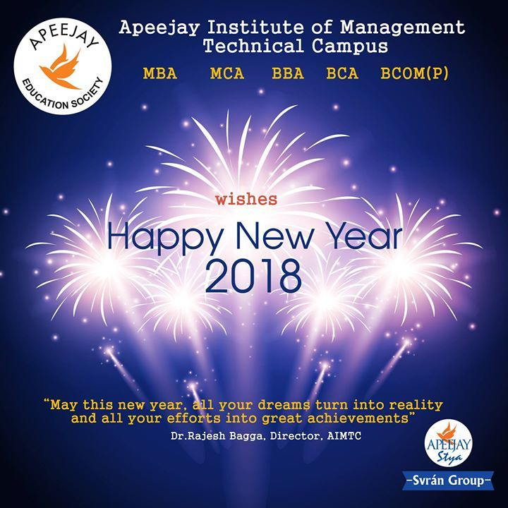 Milestones From 2017 Into 2018: #AIMTC Wishes All A Very Happy New Year 2018. As 2017