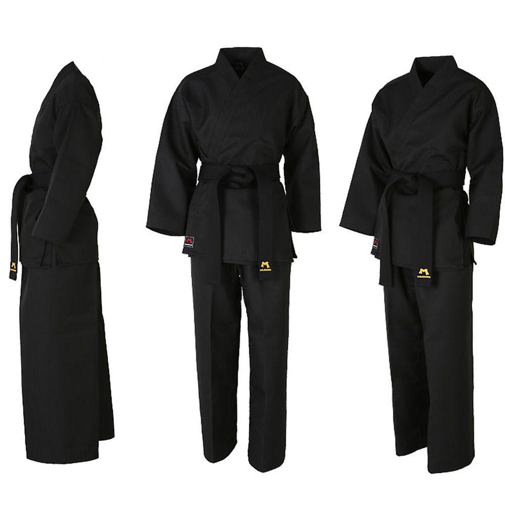 Taekwondo Wrap Uniforms Mooto BS4 Open Suits Black Doboks Martial Arts MMA TKD