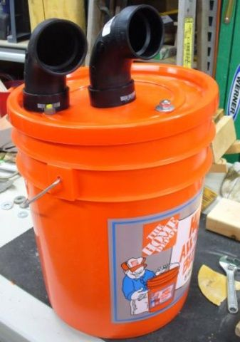 homemade cyclone separator woodworking