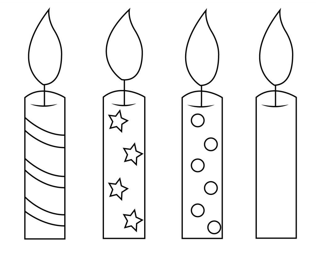 Birthday Candle Coloring Page Birthday Coloring Pages Cupcake Coloring Pages Colorful Candles
