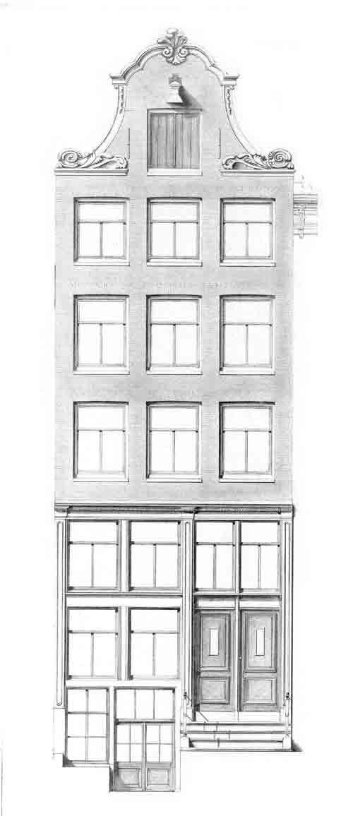 HISTORISCHE GEVELS IN AMSTERDAM    Amsterdam is rijk aan monumentale panden en biedt een grote   schakering aan diverse vormen van gevels.    Tussen 1975 – 1980 moesten huizen in verband met restauratie   opnieuw worden getekend.    Kopieën van een zevental verschillende bijzondere gevels zijn bij   Postersquare te bestellen. Het betreft panden die vanaf de   17e eeuw werden gebouwd.     Afmetingen: 42 br. x 1.00 cm hg.   Bijzonderheden: Gevel met dakversiering. Meer info…