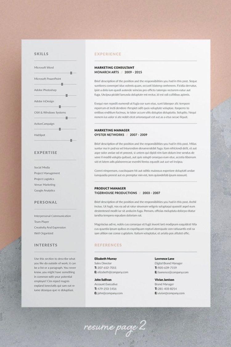 Resume/CV Tamara Resume design template, Resume, Cv