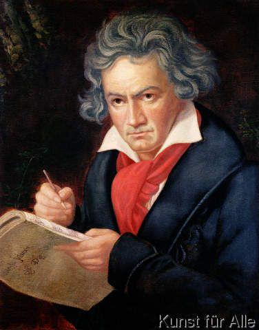 Joseph Karl Stieler - Ludwig van Beethoven (1770-1827) Composing his 'Missa Solemnis', 1819