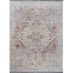 Photo of benuta Trends Flachgewebeteppich Ian Grau/Blau 100×145 cm – Vintage Teppich im Used-Look benuta