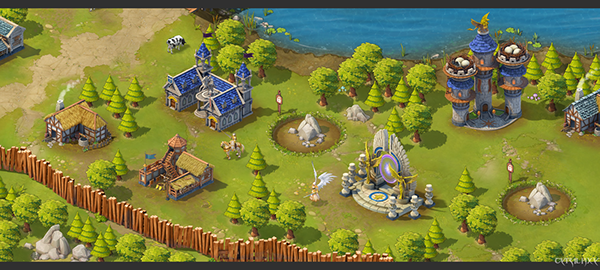 2.5D场景 on Behance (With images) Game design, Golf