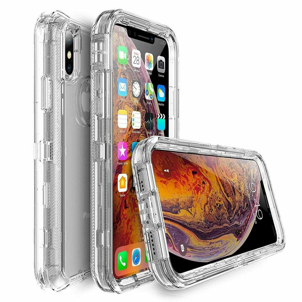 For iphone xr xs max shockproof crystal clear case fit