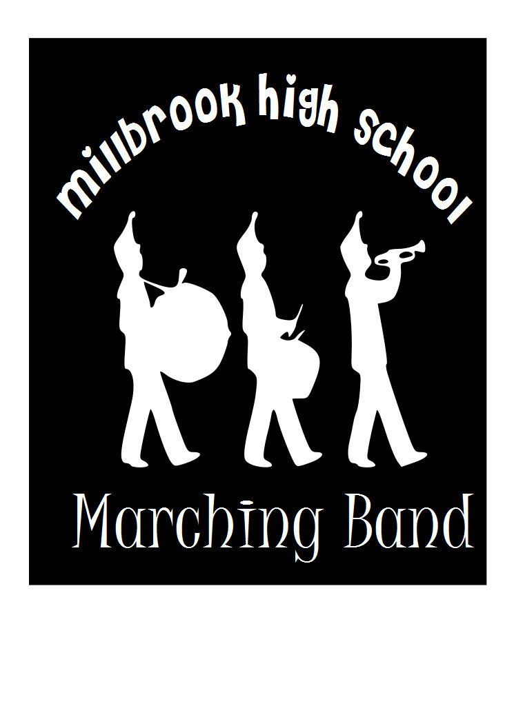 Car window decal marching band with name of high school custom removable vinyl decal