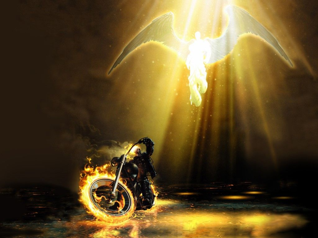 Comics Wallpaper Ghost Rider And An Angel Ghost Rider Pictures Ghost Rider Ghost Rider Wallpaper