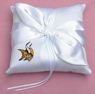 Wedding Ring Bearer Pillow Minnesota Vikings Football Themed