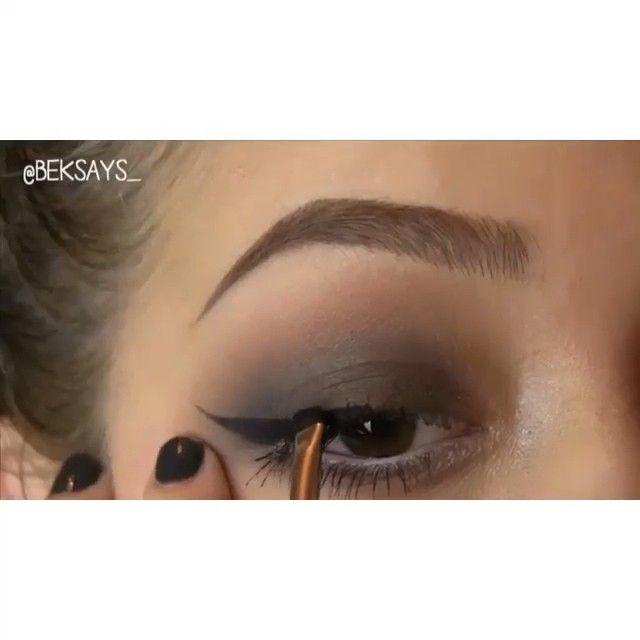 """Beautiful soft brown smokey eye  by @beksays_"""