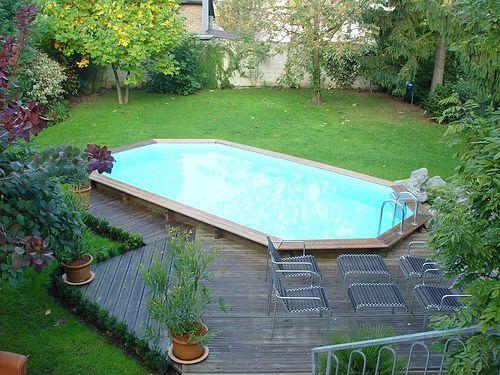 Piscine hors sol bois piscine Pinterest Patios - piscine hors sol beton aspect bois