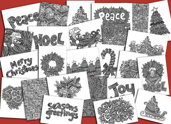 Christmas Colouring Book Digital Download By AdvanceMultimedia