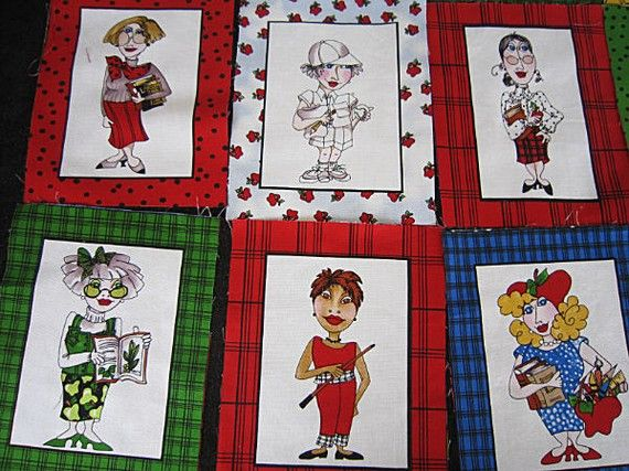 100/% Cotton Fabric Holiday Patterns Cross-Stitch Quilt look By The Yard