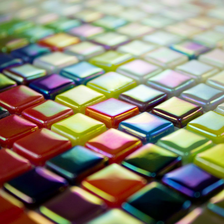 Morjo 12mm Iridescent Recycled Glass Mosaic Tile Mosaic Art Supplies Mosaic Tiles Glass Mosaic Tiles