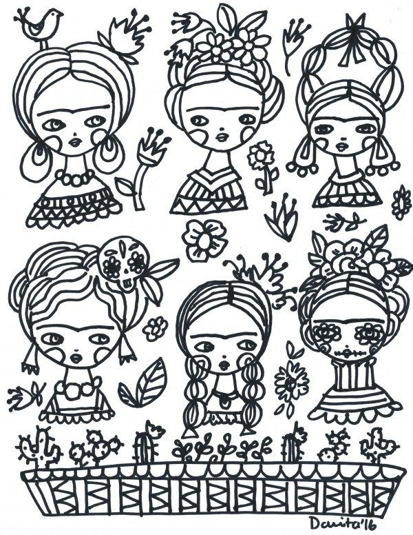 - Freebie: Frida Kahlo Coloring Page Frida Kahlo, Coloring Pages, Frida  Kahlo Art