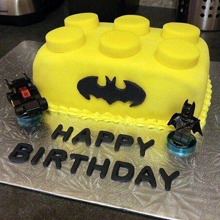 Lego Batman Birthday Cake I Made This Cake For My Sons Th - Lego batman birthday cake