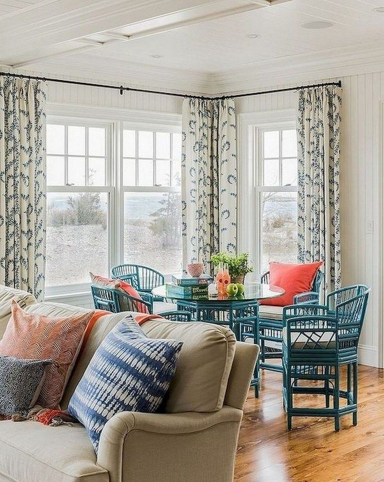 15 Beautiful Dining Room Curtains - Create A New Look ... on Farmhouse Dining Room Curtain Ideas  id=16205