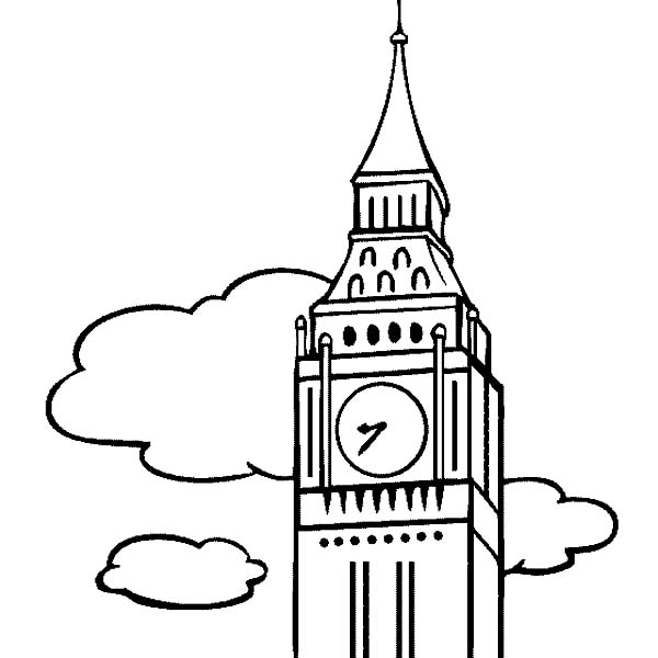 Big Ben The Clock Tower Coloring Page Coloring Sun Coloring Pages Clock Tower Big Ben